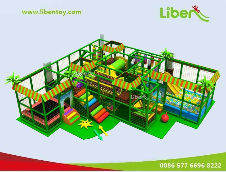 Jungle Themed Indoor Playset for Toddlers